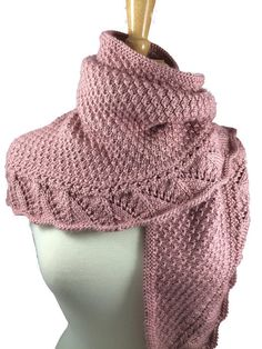 Victorian Rose Demalangeni Shawl Scarf Handknit and Comfy