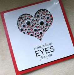 Handmade 'I Only Have Eyes For You' Valentine's Day Card £3.90