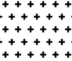 Black Plus Fitted Crib/Cot Sheet - Swiss Cross
