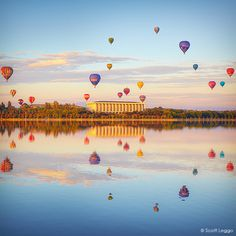Balloons over Canberra, Australia. (probably the only thing you'd want to see in Canberra) Australia Capital, Visit Australia, Australia Travel, Sydney Australia, Western Australia, The Places Youll Go, Places Around The World, Places To Go, Beautiful World