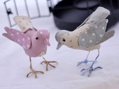 La Страна Coppia пару ткани птиц Boobacci на Etsy. €39,00, via Etsy.