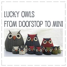 Lucky Owls Doorstop Pattern   6 Sizes In One. By The Haby Goddess