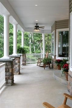 A wraparound porch - I could just picture myself with an ice cold lemonade and a good book sitting on a porch swing on a hot summer day