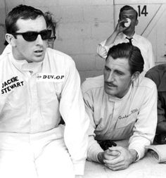 f1 drivers jackie stewart and graham hill