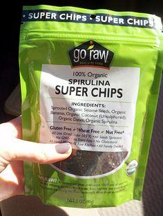 GoRaw Spirulina Chips! I keep these stashed everywhere!!!