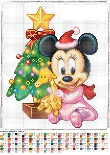 Points de croix *<3* Christmas Baby Minnie