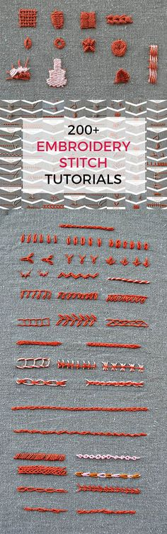 Over 200 embroidery stitches in one ebook