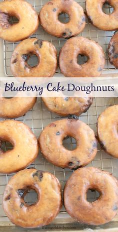 Blueberry Cake Doughnuts (Simple to make!) Blueberry Cake Doughnuts are the perfect homemade treat for breakfast, brunch or to pair with a cup of coffee. Make them the day ahead and fry fresh the next morning. Blueberry Doughnuts, Blueberry Cake, Homemade Donuts, Homemade Recipe, Homemade Breads, Doughnut Cake, Baking Recipes, Baked Donut Recipes, Baked Donuts