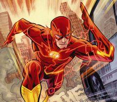 The Flash - Barry Allen new 52 Film Dc Comics, Flash Comics, Arte Dc Comics, Dc Comics Superheroes, Kid Flash, Superhero Quiz, Superhero Facts, John Francis Daley, Flash Barry Allen