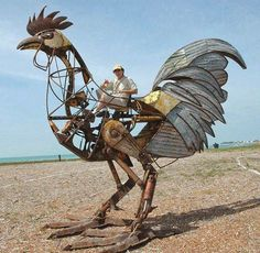 Tumblr: steampunktendencies:  Giant Key West Chicken by Derek Arnold…