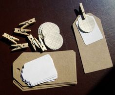 DIY Tag Kit - Gift Tags and Stickers Kraft, White, Brown. $5.00, via Etsy.