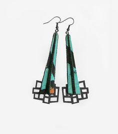 Designer earrings contemporary modern jewelry design by DeUno