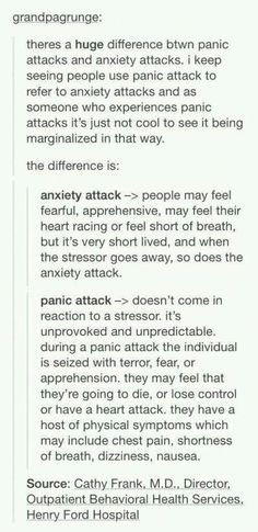 I had the problem of referring to my own attacks and both panic and anxiety, though I kind of have both. of the time it is a panic attack, then i have rare little anxiety attacks Writing A Book, Writing Tips, Writing Prompts, Understanding Anxiety, Explaining Anxiety, Anxiety Panic Attacks, Anxiety Help, Overcoming Anxiety, Anxiety Tips