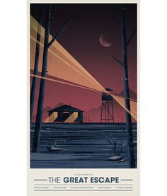 An alternative movie poster for the film The Great Escape, created by Maxime Chillemi, featured on AMP Construction Chalet, Tenacious D, Inspirational Movies, Alternative Movie Posters, Alternative Art, The Great Escape, Cinema Posters, Movie Poster Art, Minimalist Poster