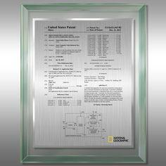 Patent Plaque - Jade Glass Patent Plaques