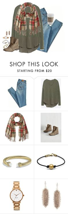 """your hands feel so good in mine, I'll never let them go."" by kaley-ii ❤ liked on Polyvore featuring American Eagle Outfitters, Zara, Rampage, David Yurman, Kate Spade and Kendra Scott"