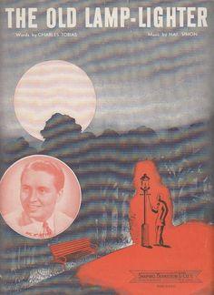 The Old Lamp-Lighter 1946 Sheet Music Hal McIntyre Charles Tobias Nat Simon