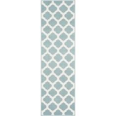 Artistic Weavers Felix Aqua 2 ft. 3 in. x 7 ft. 9 in. Geometric Indoor/Outdoor Runner Rug S00151078432 - The Home Depot Outdoor Runner Rug, Outdoor Rugs, Indoor Outdoor, Outdoor Spaces, Outdoor Decor, Aqua Area Rug, White Area Rug, Area Rugs, Morrocan Patterns