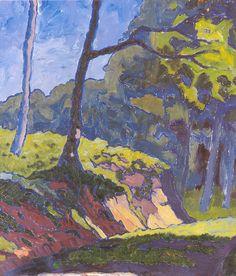 Rudolf Urech-Seon - Waldlichtung. 1916 Masters, Paintings, Artists, Expressionism, Switzerland, Kunst, Master's Degree, Paint, Painting Art