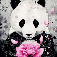 Scandygirl — Beauty in me-panda – Happy Tiere Animal Paintings, Animal Drawings, Cute Drawings, Art D'ours, Panda Mignon, Panda Drawing, Cute Panda Wallpaper, Panda Wallpapers, Panda Art