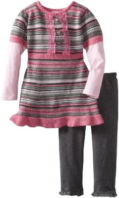 Amazon.com: Nannette Girls 2-6X 2 Pack Printed Sweater Set: Clothing