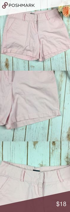 """J. Crew Factory Baby Pink City Fit Shorts J. Crew Factory Baby Pink City Fit Shorts.  Perfect for entering spring or vacation!  Measurements (taken lying flat): 15"""" waist 9"""" rise 5.5"""" inseam  Materials: 100% cotton  No Trades J. Crew Factory Shorts"""