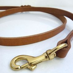 Leather dog leash—the ultimate simple leash for your pooch.