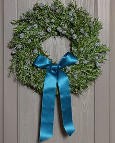 This wreath smells just as much as it is beautiful. Made from bay laurel (or rosemary) it gives off a wonderful fragrance.