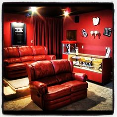 This convenient concession stand: 13 Home Theaters We'd Pay To Watch Movies In Home Theater Furniture, Home Theater Decor, Best Home Theater, Home Theater Seating, Home Theater Design, Theater Seats, Movie Theater Rooms, Home Cinema Room, Theatre Rooms