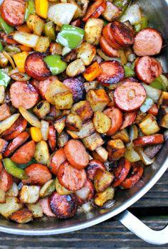 Salchichas con verduras | Tasty details