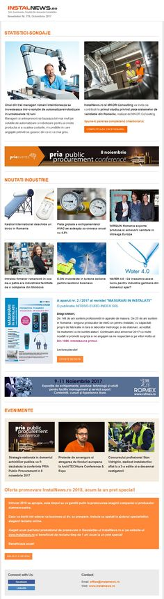 Newsletter InstalNews.ro nr. 119, Octombrie 2017