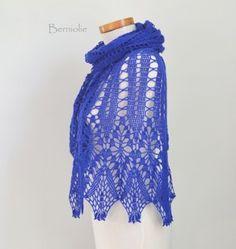 WISTERIA, Crochet shawl pattern, PDF   Berniolie - Patterns on ArtFire