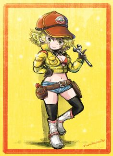 Cindy Aurum, Final Fantasy Xv, Green Eyes, Baseball Cap, Chibi, Princess Zelda, Curly Hair, Short Hair, Fictional Characters