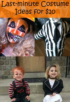 Dont settle for the leftovers at the store this year! How about a do it yourself Halloween costume? This is your year to sport a creative and frugal Halloween costume! Try any of these easy last minute Halloween costume ideas, and youll be a hit! Easy Diy Costumes, Diy Halloween Costumes For Kids, Halloween Kostüm, Costume Ideas, Do It Yourself Costumes, Kids Costumes Boys, Festival Costumes, Last Minute Halloween Costumes, Frugal