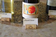 SO MANY PROJECTS TO DO WITH CORKS / wine cork projects--wine cork place holder from hope studios