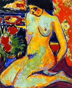 Ernst Ludwig Kirchner - Cuatro desnudos bajo los árboles - Buscar con Google