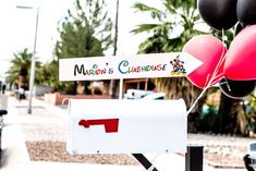 Mailbox party sign from a Mickey Mouse Clubhouse Themed Birthday Party via Kara's Party Ideas KarasPartyIdeas.com (38)
