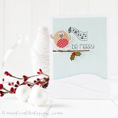 Debby Hughes - Lime Doodle Design - Clearly Besotted Stamps October challenge & new stamps plus Simon Says Stamp dies - christmas, card, robin, snow rockin Christmas Bird, Christmas Greetings, Christmas 2014, Card Making Inspiration, Making Ideas, Christmas Inspiration, Xmas Cards, Holiday Cards, Greeting Cards