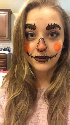 Scarecrow FACEPAINT Halloween face painting face paint fall autumn makeup make up wizard of oz