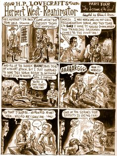 "Today at Underwhelming Lovecraft Comic Synopses is the fourth chapter of ""Herbert West- Reanimator"", where Herbert gets called out by one of his guinea pigs. Serves 'em right."