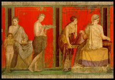 Pompeii frescoes, red and yellow in its purest form