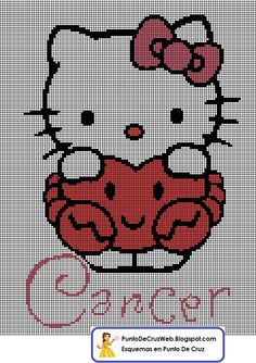 Punto De Cruz Horoscopo Hello Kitty Cancer