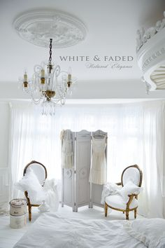 French style white bedroom