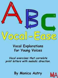 Vocal Exploration for young voices, correlating melodic direction with print letters Singing Exercises, Vocal Exercises, Singing Lessons For Kids, Singing Tips, Music Sing, Songs To Sing, Teaching Music, Teaching Kids, Vocal Warmups