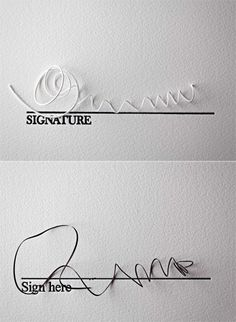 Signatures.I found this to be very creative but very funny, too! I have seen many signatures that looked just like these!
