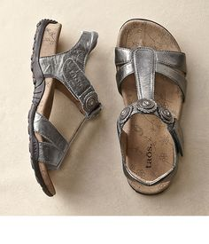 Taos Paradise Sandals? Metallic is great any time of year.