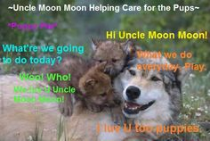 Uncle Moon Moon - world's coolest baby sitter (but you probably don't want to leave them alone for too long...)!