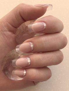 Beautiful summer french nails, Beige gel polish, Beige shellac, French nails 2017, Interesting French manicure, Long french manicure, Natural nails, Original French manicure