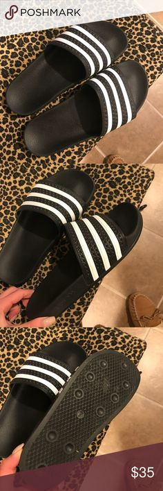 low priced 798d4 52355 LIKE NEW ADIDAS ADILETTE SLIDES LIKE NEW ADIDAS ADILETTE SLIDES Women s 9,  Men s 7 adidas Shoes Sandals