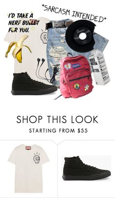 """""""I'd Take a Nerf Bullet For You™"""" by bandsvansandsodacans ❤ liked on Polyvore featuring Gucci, Vans and JanSport"""